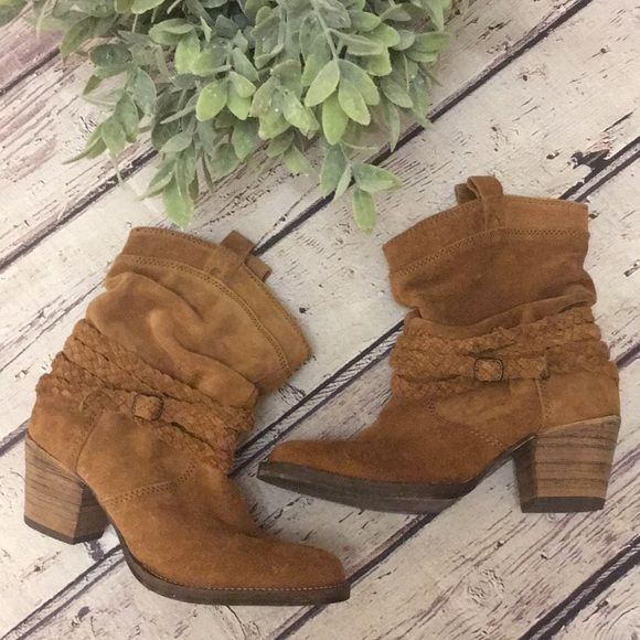5714c1327dd DINGO NWOT Suede Twisted Sister Slouch Boots 7